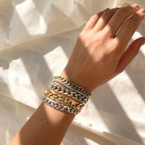 Jenny Bird Austin Cuff Bracelet Stackable Chains